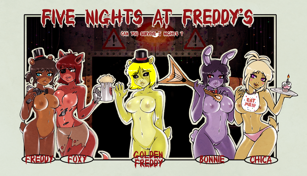 five freddy nights foxy at Amano megumi is full of openings