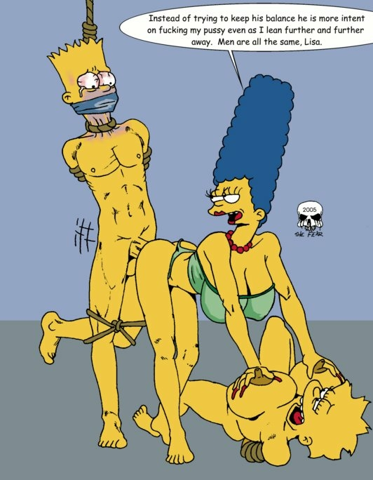 naked with bart marge simpson Nott the brave