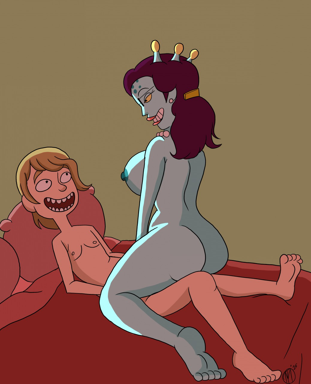 and morty abdl rick comic Horse mating with human gif