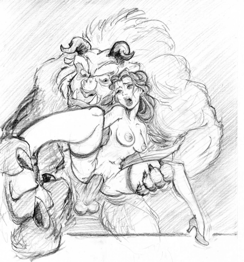 beauty belle and beast naked the Female blue eyes white dragon