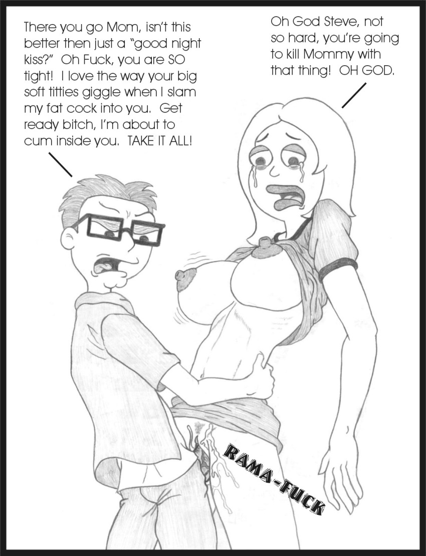 gets steve dad american boobs What the hell are you doing here teacher hentai